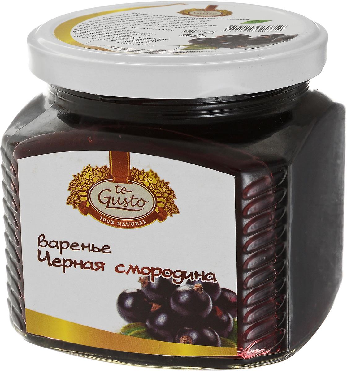 te Gusto Варенье из черной смородины, 470 г te gusto варенье из сливы 430 г