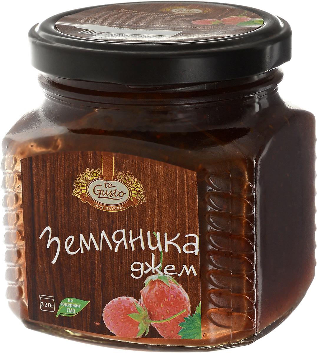 te Gusto Джем из земляники, 320 г4657155301368Ароматный джем te Gusto сварен из земляники, имеет желеобразную консистенцию с крупными кусочками ягод. Для приготовления используются только свежие, тщательно отобранные ягоды, созревшие в экологически чистых местах. Продукт не содержит ГМО.Земляника - очень полезная и сладкая ягода, необычный аромат и восхитительный вкус которой нравится и детям, и взрослым. Вместе с тем полезные свойства земляники стимулируют аппетит, улучшают пищеварение, а также снимают воспаление в кишечнике и желудке.Уважаемые клиенты! Обращаем ваше внимание, что полный перечень состава продукта представлен на дополнительном изображении.