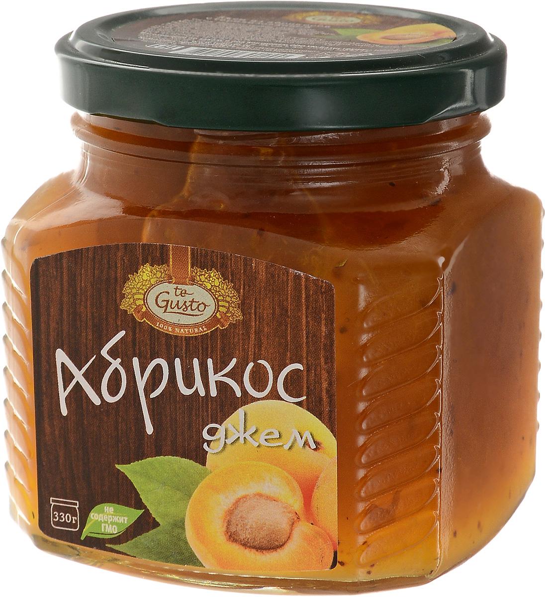 te Gusto Джем из абрикосов, 330 г4657155301290Ароматный джем te Gusto сварен из абрикосов, имеет желеобразную консистенцию с крупными кусочками фруктов. Для приготовления используются только свежие, тщательно отобранные плоды, созревшие в экологически чистых местах.Продукт не содержит ГМО. Абрикос, входящий в состав джема очень полезен для организма, так как содержит большое количество витаминов, таких как А, В, С, Е, Р, РР , а также микро- и макроэлементов, среди которых фосфор, калий, магний, натрий, железо и йод.Абрикосы способствуют пищеварению, выводят из кишечника шлаки, улучшают работу сердечно-сосудистой системы, укрепляют иммунитет, помогают больным астмой, аритмией, ишемической болезни сердца.Уважаемые клиенты! Обращаем ваше внимание, что полный перечень состава продукта представлен на дополнительном изображении.