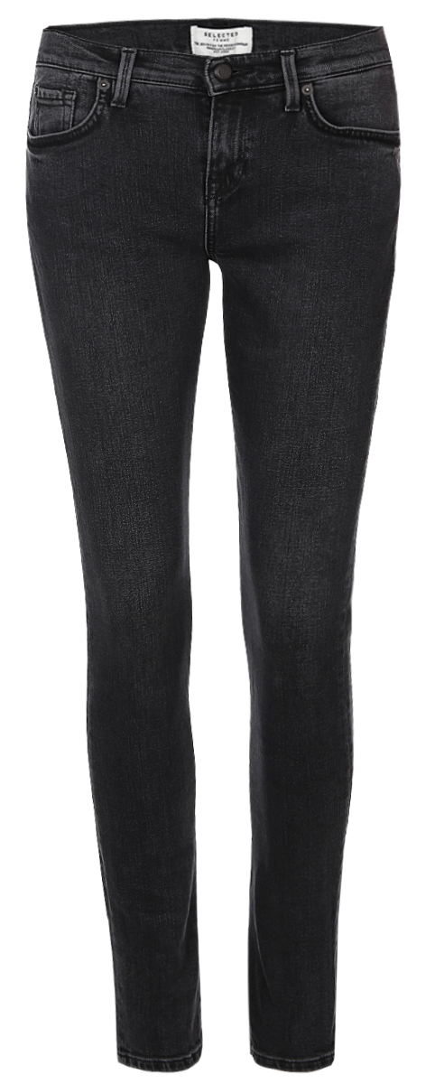 Джинсы женские Selected Femme, цвет: темно-серый. 16054240. Размер 31-32 (48-32) джинсы женские selected femme цвет темно серый 16054240 размер 29 32 46 32