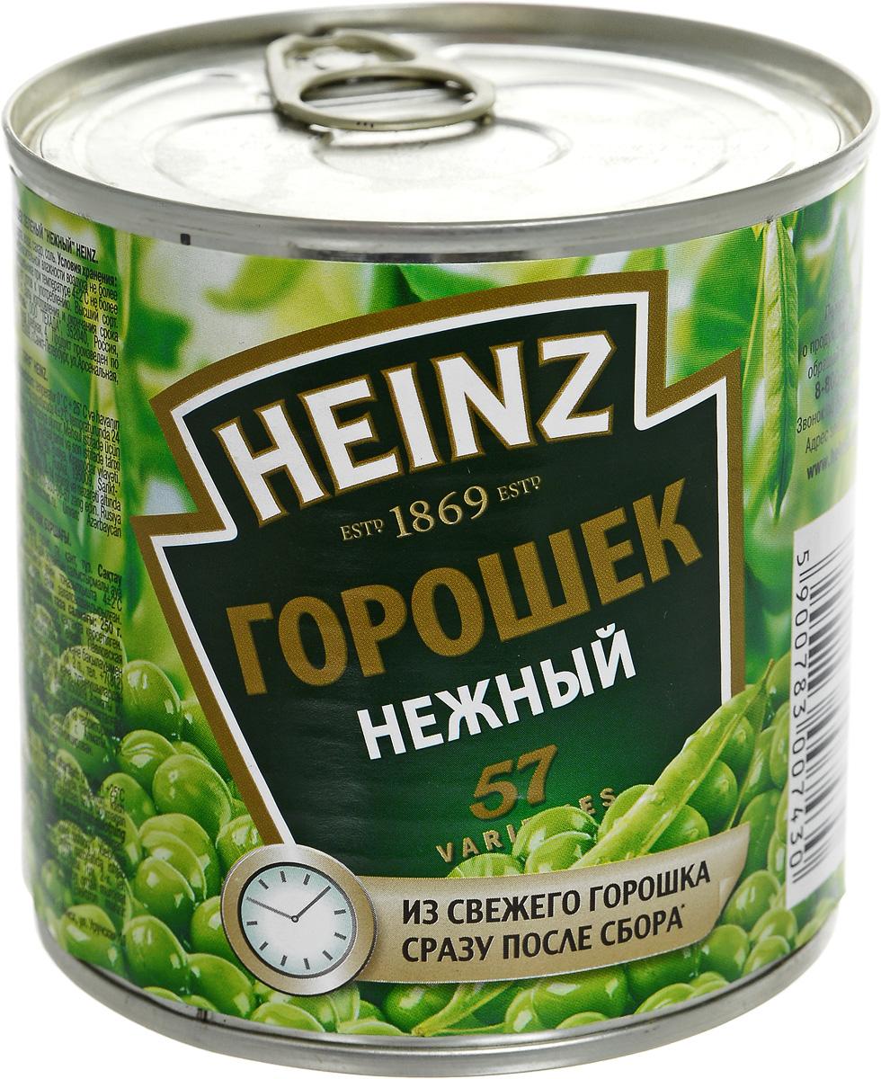 Heinz горошек нежный, 390 г7181920Молодой и нежный горошек Heinz попадает в банку в течение 5 часов после сбора урожая, не подвергаясь процессам высушивания и заморозки, что позволяет сохранить превосходный вкус и максимальную полезность.