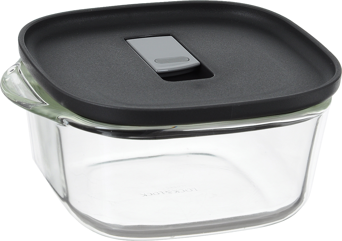 Контейнер пищевой Lock&Lock Glass, 760 млLLG945Контейнер Lock&Lock Glass изготовлен из боросиликатного стекла, которое отличается высоким качеством и устойчиво даже при экстремальных температурах: от -100°C до +400°C. Контейнер оснащен двумя выступающими ручками. Термостойкая пластиковая крышка с силиконовой вставкой оснащена клапаном для герметичного закрытия. Контейнер Lock&Lock Glass удобен для ежедневного использования в быту.Можно мыть в посудомоечной машине и использовать в микроволновой печи.Ширина контейнера (с учетом ручек): 17 см.Внутренний размер контейнера: 13 х 13 см. Высота стенки контейнера: 6,5 см.Размер контейнера (с учетом крышки): 17 х 14 х 7,3 см.