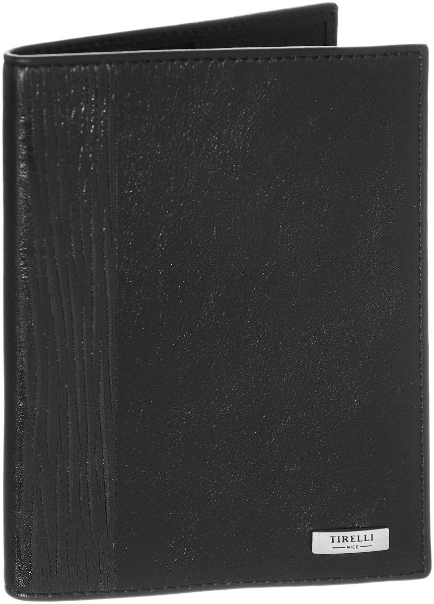 Обложка для паспорта Tirelli Wood, цвет: черный. 15-333-08Натуральная кожаОбложка для паспорта Tirelli Wood выполнена из натуральной кожи и оформлена декоративным тиснением. Внутри расположены боковые карманы для фиксации паспорта. Изделие упаковано в фирменную коробку.Такая обложка не только поможет сохранить внешний вид ваших документов, но и станет стильным аксессуаром, идеально подходящим вашему образу.
