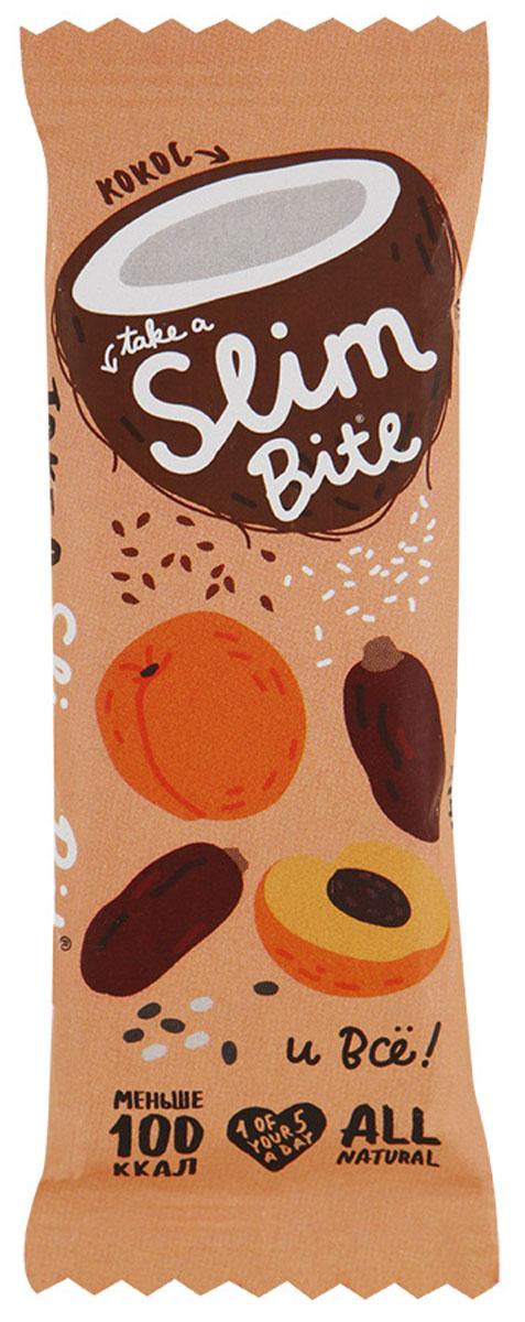 Take A Slim Bite Кокос батончик фруктово-ягодный, 30 г4650062591198Фруктово-ягодный батончик Take A Slim Bite - ничего лишнего: только финик, курага и много кокоса. Экзотический вкус натурального кокоса поднимет настроение и придаст энергии на весь день.Уважаемые клиенты! Обращаем ваше внимание, что полный перечень состава продукта представлен на дополнительном изображении.