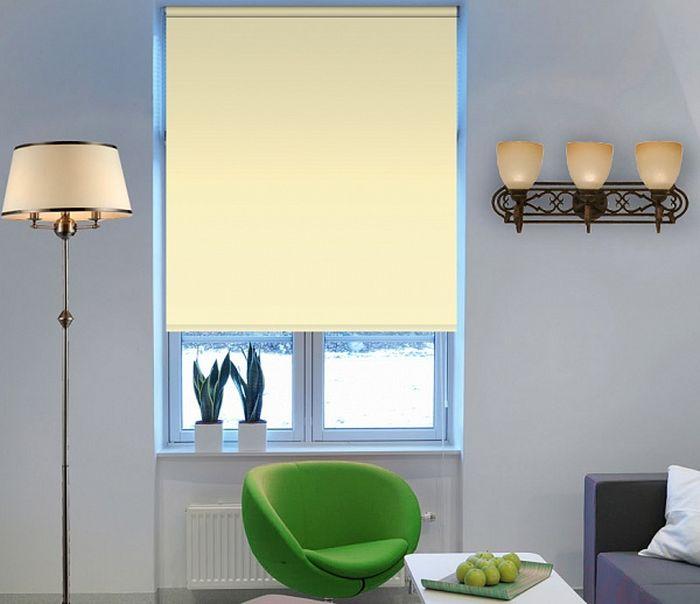 Штора рулонная Эскар Миниролло. Blackout, светонепроницаемые, цвет: ваниль, ширина 43 см, высота 170 см34021043170Рулонные шторы Эскар Миниролло. Blackout, не пропускающие солнечный свет,изготовляются из полностью светонепроницаемого материала. Это свойствообеспечивается структурой ткани и специальными вплетенными нитями,удерживающими проникновение света. Такие шторы используются в кинотеатрах, фотолабораториях, детскихкомнатах и других помещениях, где необходимо абсолютное затемнение.Такая штора станет прекрасным элементом декора окна игармонично впишется в интерьер любого помещения.