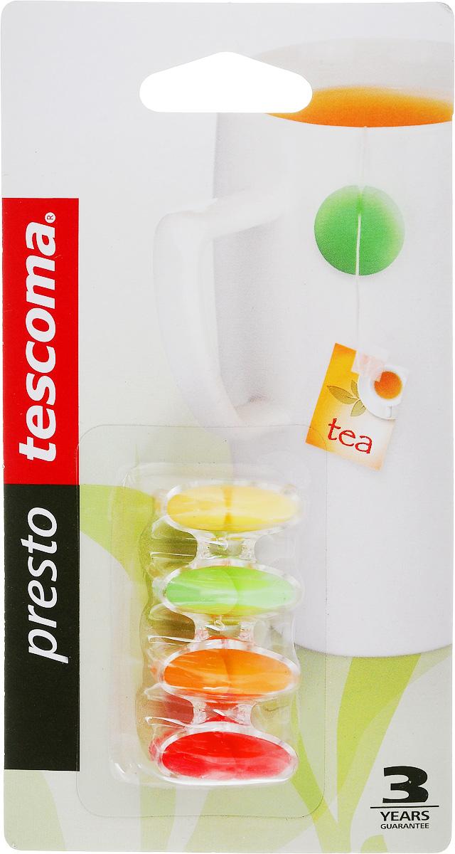 Грузик для чайных пакетов Tescoma Presto, с подставкой, 4шт420682Грузик для чайных пакетов Tescoma Presto изготовлен из силикона. На нитку чайного пакетика наденьте грузик и повесьте на край кружки. Подвеска не соскользнет в чай даже при заливании чайного пакетика горячей водой. В комплект с грузиками входит пластмассовая подставка.Можно мыть в посудомоечной машине.Диаметр грузика: 2,3 см.Количество в упаковке: 4 шт.