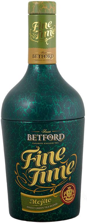 Betford Бутылка Мохито чай зеленый ароматизированный лайм с мятой, 100 г moxito одежда каталог 2015