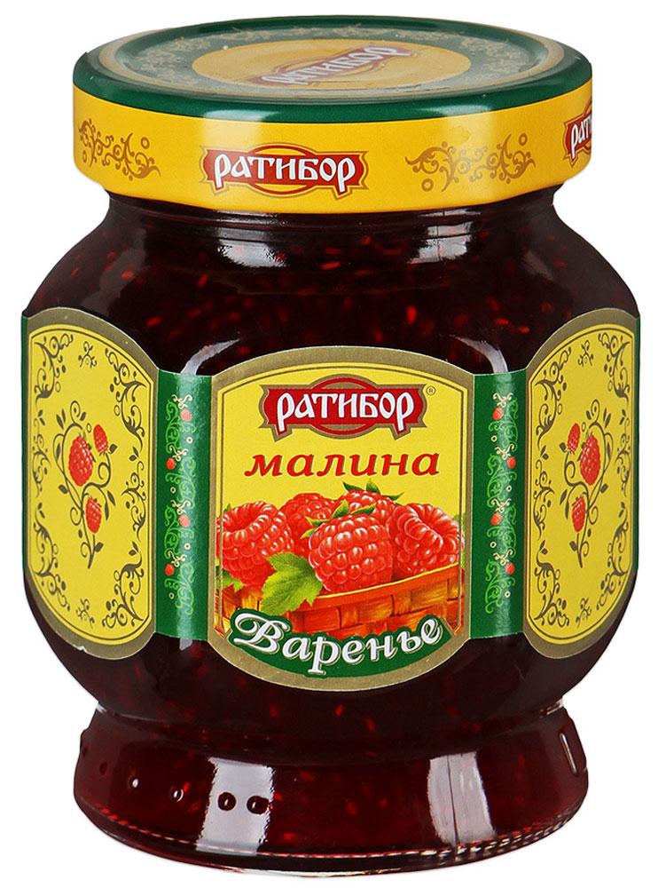 Ратибор варенье Малина, 400 г1014Уникальные целебные свойства нежных, ароматных сладких ягод малины хранятся в варенье, изготовленном по традиционным домашним рецептам.