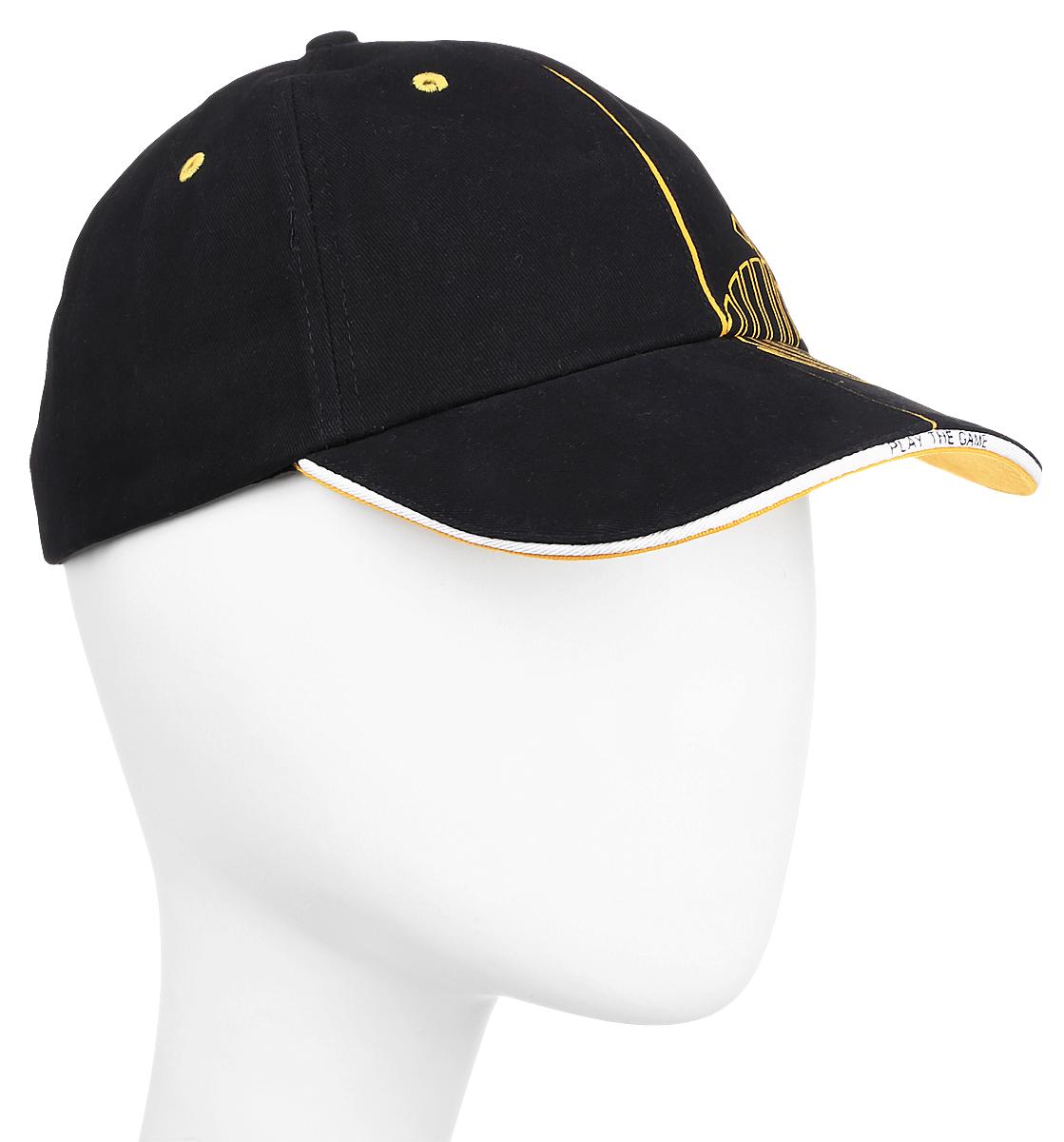 Бейсболка 2K Sport Ferrat, цвет: черный, желтый. 124230. Размер 58/60124230_black/yellowБейсболка 2K Sport Ferrat выполнена из натурального хлопка и имеет классическую панельную конструкцию. Модель с плотным козырьком оформлена фирменным принтом. Бейсболка имеет небольшие отверстия, обеспечивающие дополнительную вентиляцию. Объем бейсболки регулируется при помощи хлястиков с липучками.