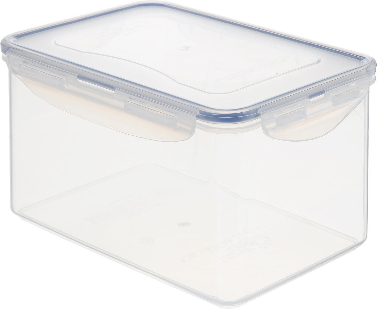 """Контейнер Lock&Lock """"Classics"""" изготовлен из  высококачественного пластика, который не содержит  Бисфенол-А, не выделяет вредных веществ.  Герметичная пластиковая крышка снабжена  уплотнительной резинкой, надежно закрывается с  помощью четырех защелок.  Контейнер с абсолютной непроницаемостью воды,  воздуха и любых запахов. Обеспечивает длительное  сохранение свежести продуктов.  Подходит для мытья в посудомоечной машине, хранения  в холодильных и морозильных камерах, использования в  микроволновых печах."""