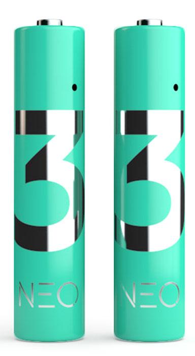 Rombica Neo X3 внешний аккумулятор, 2 штPLB-LR03Rombica Neo X3 - комплект из 2 перезаряжаемых литий-полимерных аккумуляторов типоразмера АAA. Стабильное выходное напряжение 1,5 B во время всего цикла разряда. Быстрая зарядка без эффекта памяти, без использования специализированного зарядного устройства. Зарядка возможна от любого USB-порта (ПК, универсальные зарядные устройства, портативные аккумуляторы).