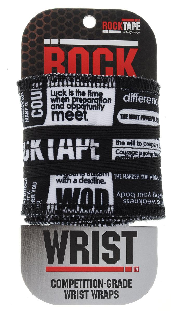 """Бинт кистевой Rocktape """"RockWrist"""", цвет: черный, белый, 55 х 6 см, 2 шт"""