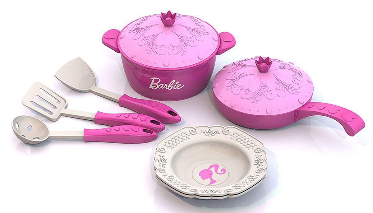 Нордпласт Игрушечный набор посуды Barbie 9 предметов наборы для поделок the orb factory the orb factory pixel pops игрушка щенок