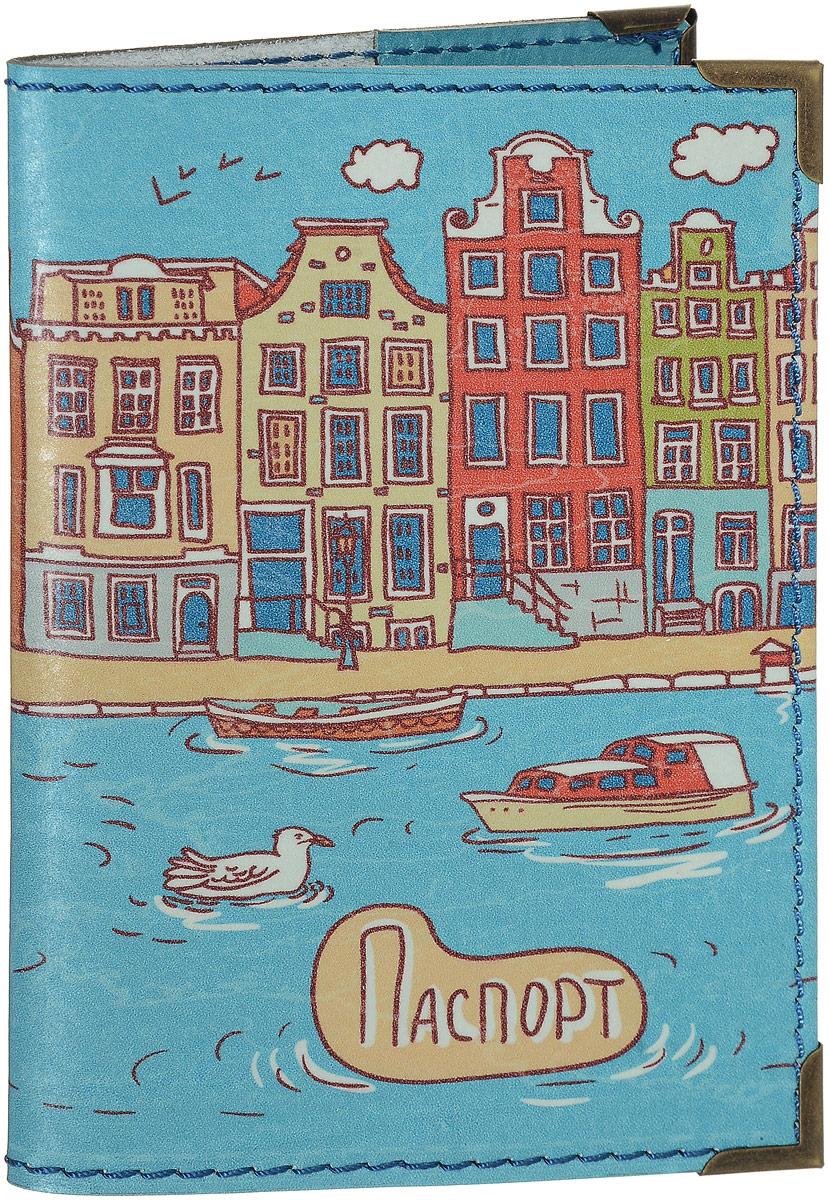 Обложка для паспорта BORЯN  Ривьера . Авторская работа. BR530 - Обложки для паспорта