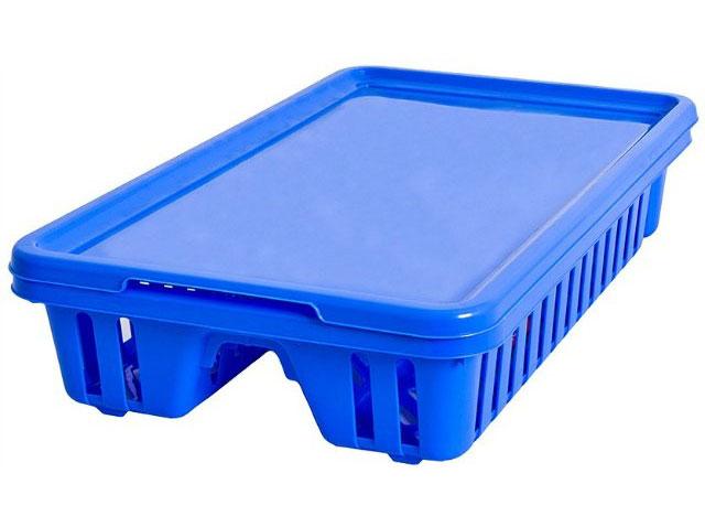 Сушилка для посуды Curver Мини, с поддоном, цвет: синий, 42 х 26,5 х 8,2 см13402-082Сушилка для посуды Curver Мини изготовленаиз высококачественного прочного пластика.Изделие оснащено пластиковым поддоном длястекания воды и содержит секции длявертикальной сушки посуды и столовыхприборов.Такая сушилка не займет много места на кухне ипоможет аккуратно хранить вашу посуду.Размер сушилки: 42 см х 26,5 см х 8,2 см. Размер поддона: 42,5 см х 27,5 см х 1,2 см.