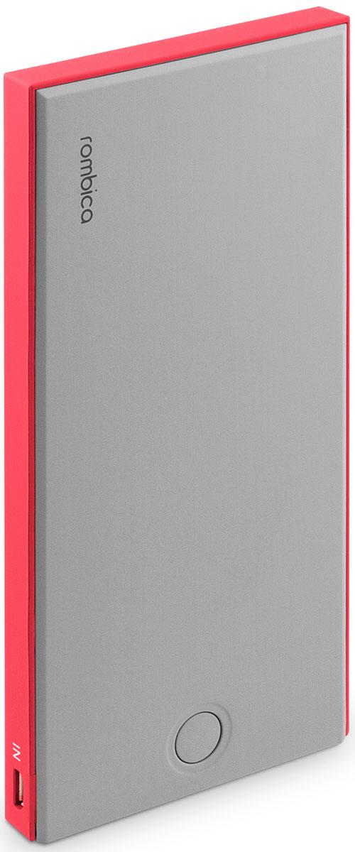 Rombica Neo NS100R внешний аккумуляторNS-00100RВнешний аккумулятор Rombica Neo NS100 заряжает большинство мобильных устройств: смартфоны, планшеты, плееры, цифровые камеры и многое другое. Легкий и компактный источник энергии у вас в кармане! Оборудован батареей большой емкости, что позволяет в условиях отдаленности от электрических сетей, продлить использование мобильных устройств. Множественная система защиты для безопасной зарядки устройств. В комплект входит войлочный чехол, который позволяет переносить и хранить внешний аккумулятор.