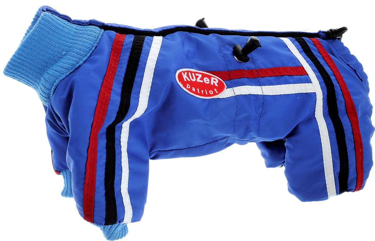 """Комбинезон для собак Kuzer-Moda """"Спринт"""", унисекс, утепленный, цвет: синий, голубой. Размер XXS"""