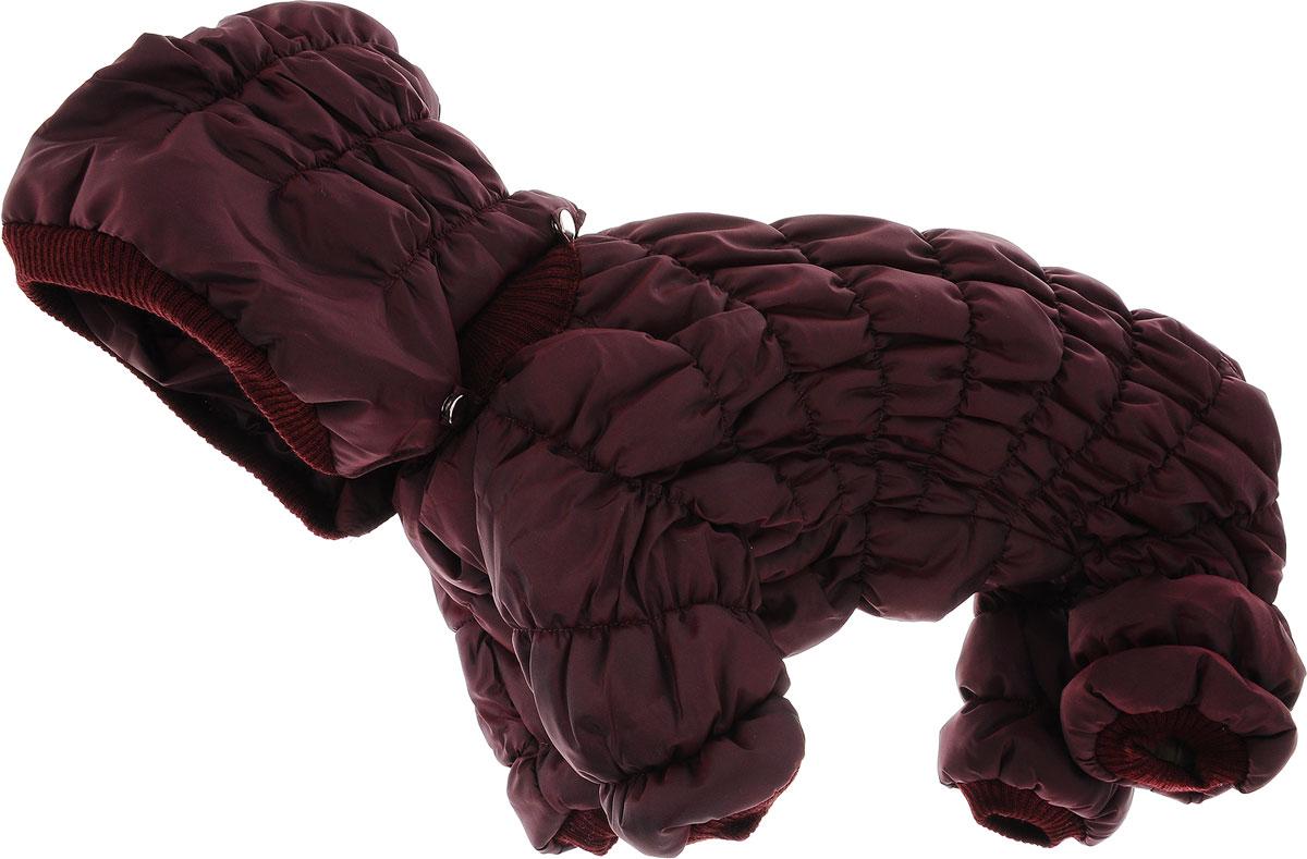 """Комбинезон для собак Kuzer-Moda """"Дутик"""", зимний, унисекс, цвет: бордовый. Размер XL"""