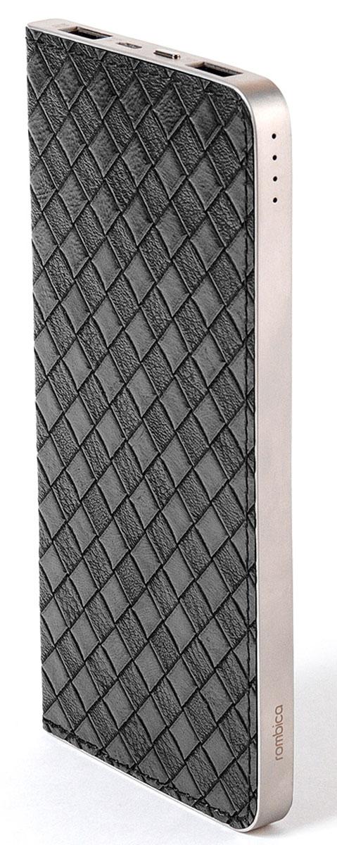 Rombica Neo S100B внешний аккумуляторSNS-00100BВнешний аккумулятор Rombica Neo S100 заряжает большинство мобильных устройств: смартфоны, планшеты, плееры, цифровые камеры и многое другое. Легкий и компактный источник энергии у вас в кармане! Оборудован батареей большой емкости, что позволяет в условиях отдаленности от электрических сетей, продлить использование мобильных устройств. Множественная система защиты для безопасной зарядки устройств. Корпус аккумулятора выполнен из алюминия с отделкой под кожу.