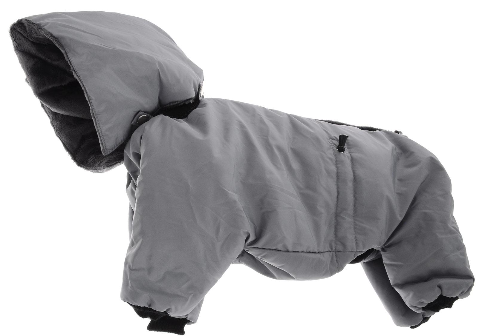 "Комбинезон для собак Kuzer-Moda ""Полярник"", зимний, унисекс, цвет: серый. Размер XL"