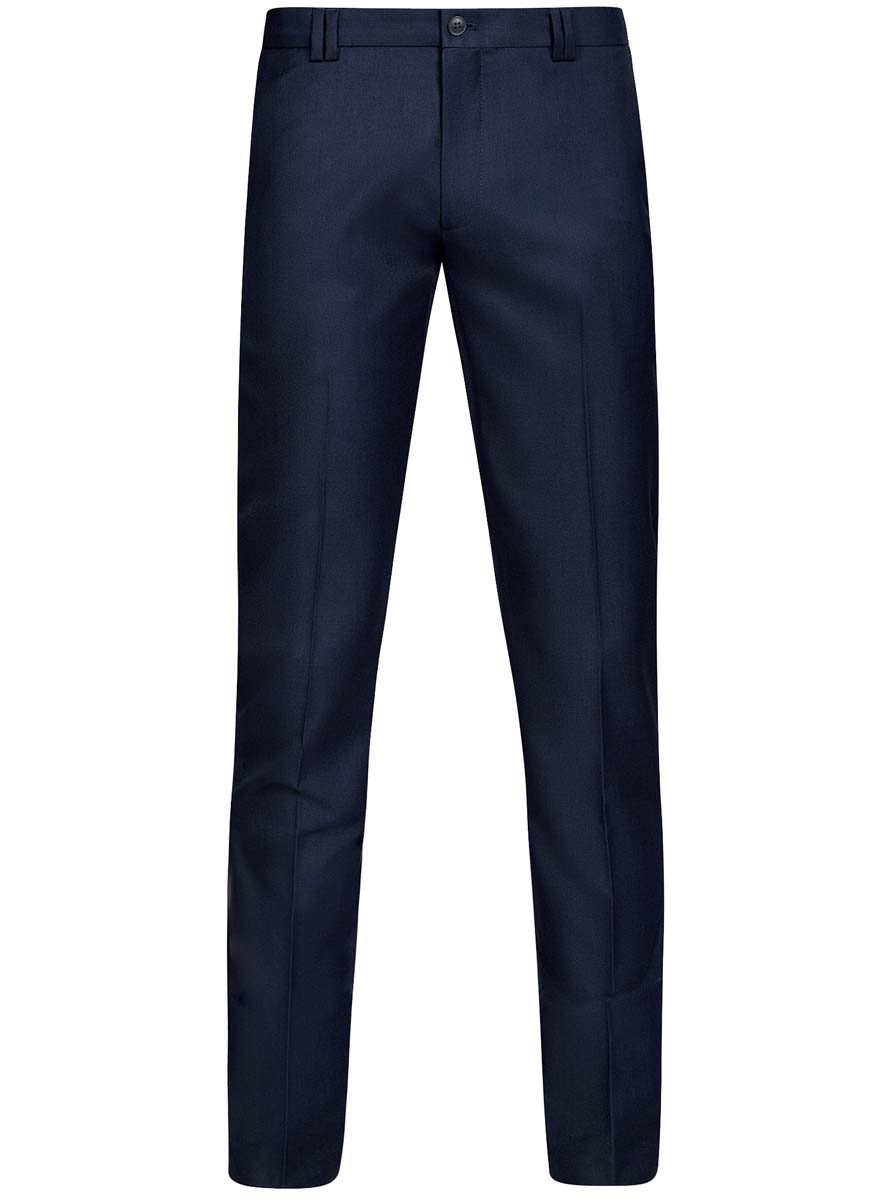Брюки мужские oodji Basic, цвет: индиго. 2B210016M/46317N/7800N. Размер 48-182 (56-182)