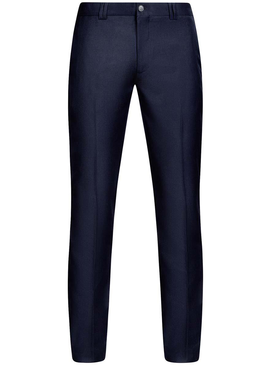 Брюки мужские oodji Basic, цвет: темно-синий. 2B210016M/46317N/7900N. Размер 46-182 (54-182)