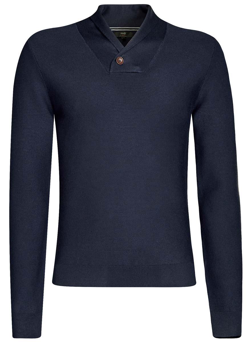 Джемпер мужской oodji Lab, цвет: темно-синий. 4L212150M/46232N/7900N. Размер L (52/54) футболка мужская oodji lab цвет темно синий 5l611395m 47601n 7912p размер l 52 54