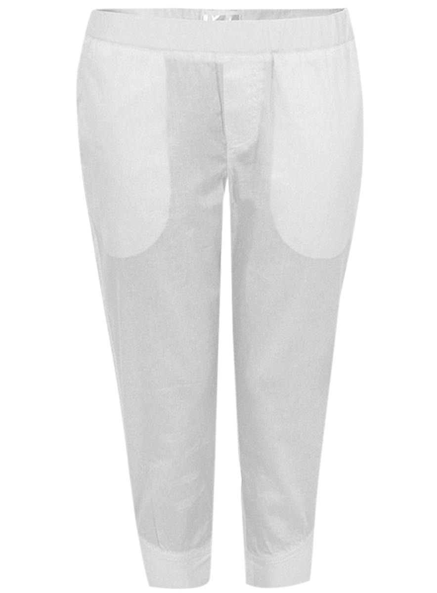 Капри oodji Ultra, цвет: белый. 11701025/14527/1000N. Размер 36-170 (42-170) капри oodji капри
