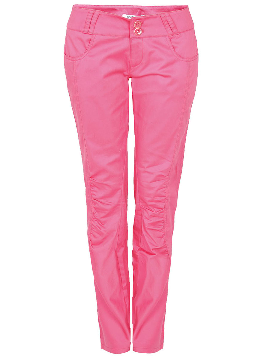 Брюки женские oodji Ultra, цвет: ярко-розовый. 11717038/14522/4D00N. Размер 38-170 (44-170)