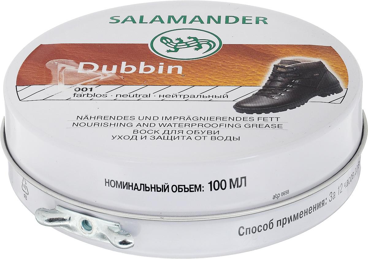 Воск Salamander Dubbin, для гладкой кожи, цвет: бесцветный, 100 мл. 665677 salamander пена очиститель для кожи и текстиля salamander combiproper salamander 200 мл