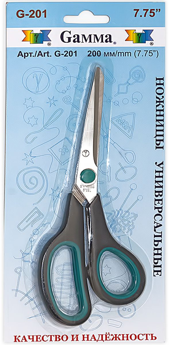 Ножницы универсальные  Gamma , длина 20 см -  Канцелярские ножи и ножницы