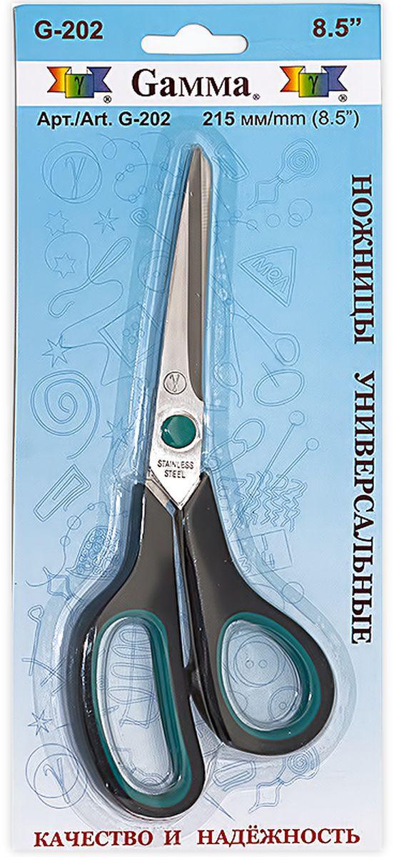 Ножницы универсальные Gamma, длина 21,5 смG-202Универсальные ножницы Gamma изготовлены из инструментальной стали и пластика. Используются для рукоделия и в быту для различных целей. Общая длина ножниц: 21,5 см.Длина лезвия: 9,5 см.