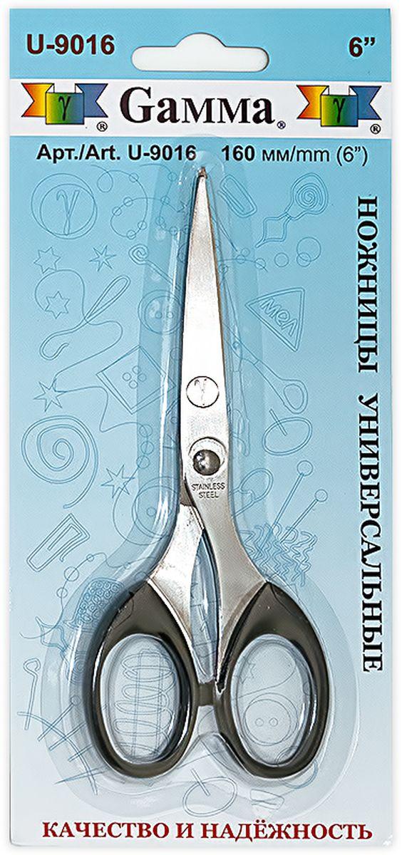 Ножницы универсальные Gamma, длина 16 смU-9016Универсальные ножницы Gamma изготовлены из инструментальной стали и пластика. Используются для рукоделия, в офисе и быту для различных целей. Режущие поверхности сходятся идеально.Общая длина ножниц: 16 см.Длина лезвия: 7,5 см.