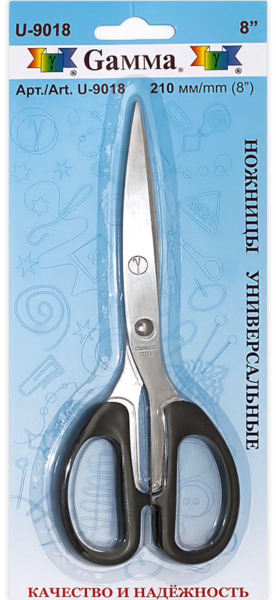 Ножницы универсальные Gamma, длина 21 смU-9018Универсальные ножницы Gamma изготовлены из инструментальной стали и пластика. Используются для рукоделия, в офисе и быту для различных целей. Режущие поверхности сходятся идеально.Общая длина ножниц: 21 см.Длина лезвия: 10,5 см.