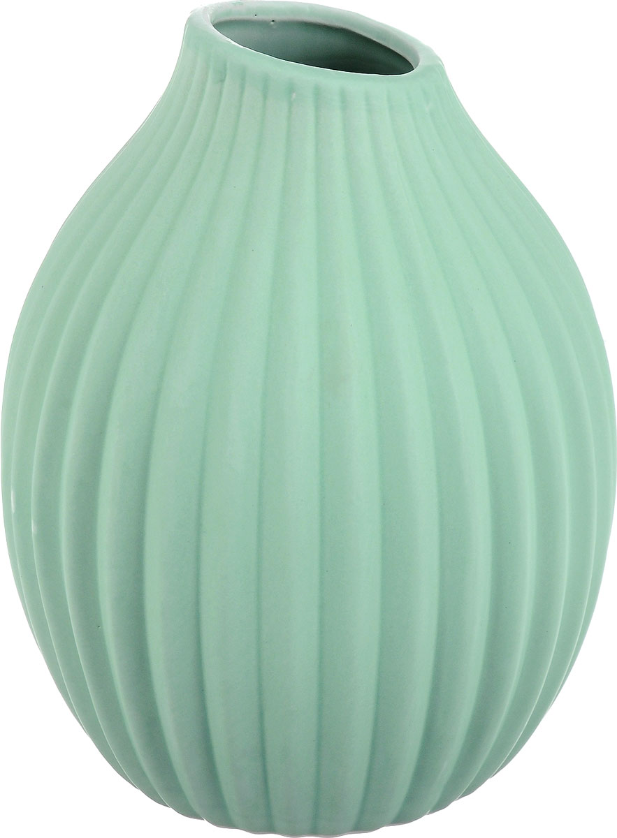 Ваза декоративная Феникс-Презент, цвет: светло-зеленый, высота 20 см ваза декоративная феникс презент высота 13 5 см 43822