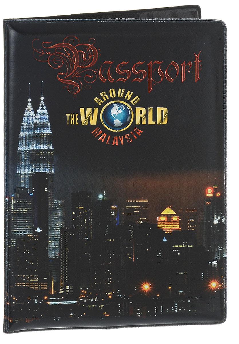 Обложка для паспорта Эврика Малайзия New, цвет: черный. 96063ПВХ (поливинилхлорид)Обложка для паспорта от Evruka- оригинальный и стильный аксессуар, который придется по душе истинным модникам и поклонникам интересного и необычного дизайна.Качественная обложка выполнена из легкого и прочного ПВХ, который надежно защищает важные документы от пыли и влаги. Рисунок нанесён специальным образом и защищён от стирания. Изделие раскладывается пополам. Внутри размещены два накладных кармашка из прозрачного ПВХ. Простая, но в то же время стильная обложка для паспорта определенно выделит своего обладателя из толпы и непременно поднимет настроение. А яркий современный дизайн, который является основной фишкой данной модели, будет радовать глаз.