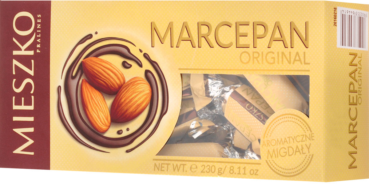 Mieszko Марципан набор шоколадных конфет, 230 г mieszko михашки с арахисом набор шоколадных конфет 220 г