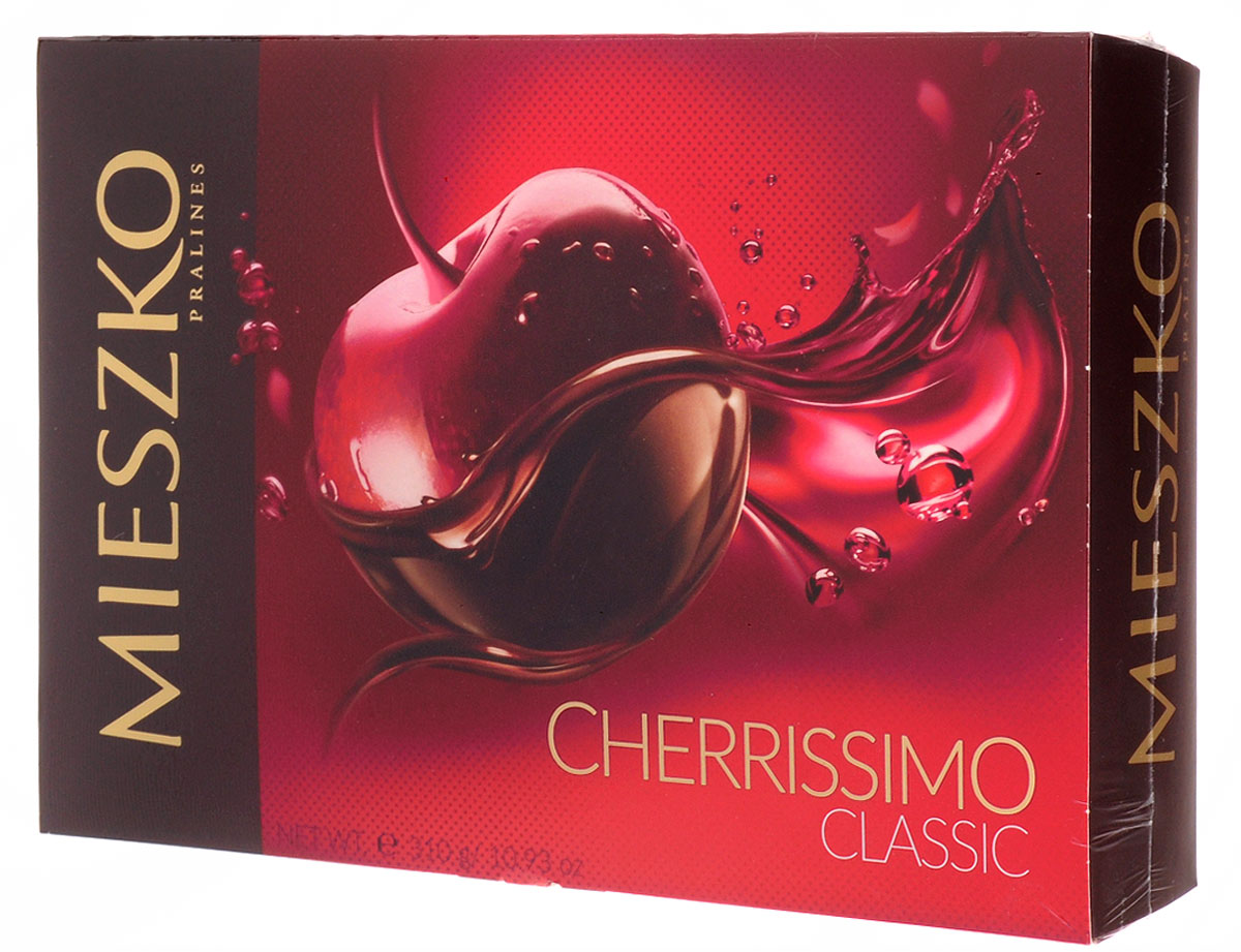 Mieszko Черрисимо набор шоколадных конфет, 310 г mieszko михашки с арахисом набор шоколадных конфет 220 г