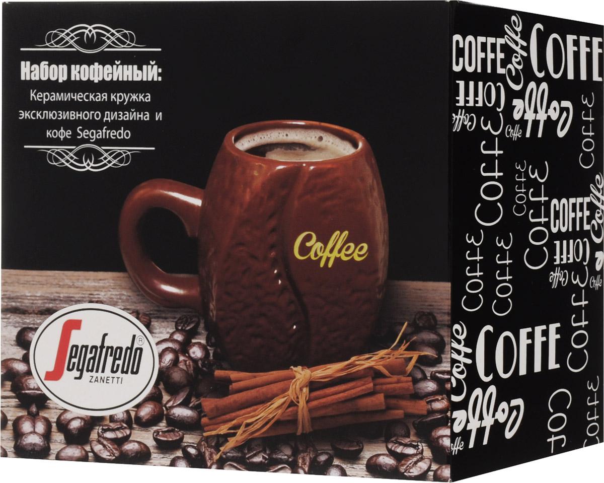 Segafredo Набор № 3 Buono кофе молотый, 250 г + керамическая кружка, 340 мл10081-00Для истинных ценителей натурального кофе разработан данный подарочный кофейный набор, включающий в себя оригинальную дизайнерскую кружку, выполненную в форме настоящего кофейного зерна, и упаковку прекрасного жареного молотого кофе.Диаметр кружки по верхнему краю - 52, высота кружки - 100. Срок годности кружки не ограничен, страна-изготовитель: Китай. Хранить в месте без посторонних запахов при относительной влажности воздуха не более 70%.