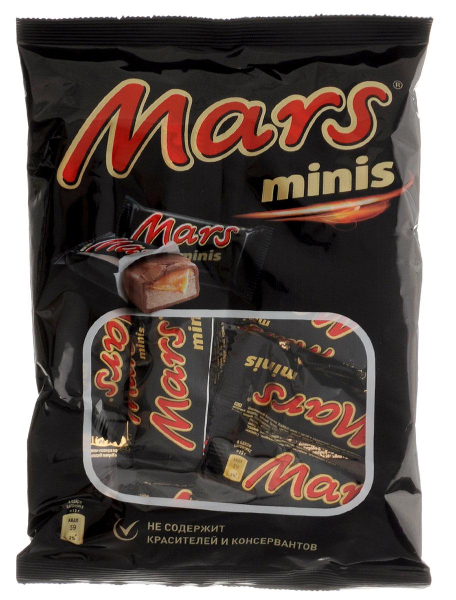 Mars minis шоколадные батончики, 182 г79009021Mars minis - это уникальное сочетание нуги, карамели и лучшего молочного шоколада. Знакомый всем с детства Марс в формате Минис удобно разделить с друзьями, коллегами, близкими и родными. Сложно найти для чаепития что-то более подходящее, чем Марс Минис. Уважаемые клиенты! Обращаем ваше внимание, что полный перечень состава продукта представлен на дополнительном изображении. Упаковка может иметь несколько видов дизайна. Поставка осуществляется взависимости от наличия на складе.