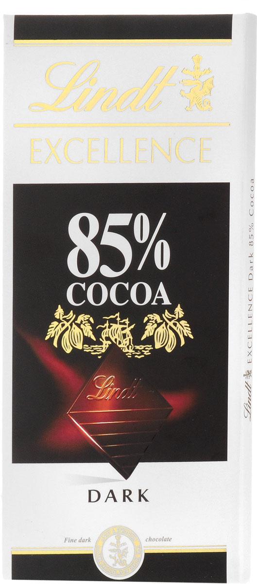 Lindt Excellence горький шоколад 85% какао, 100 г lindt excellence белый шоколад с ванилью 100 г