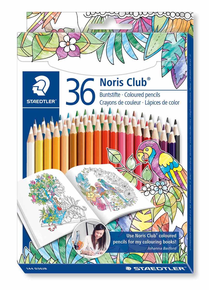 Staedtler Набор цветных карандашей Noris Club Johanna Basford 36 цветов staedtler staedtler цветные карандаши noris club утолщенные 10 цветов