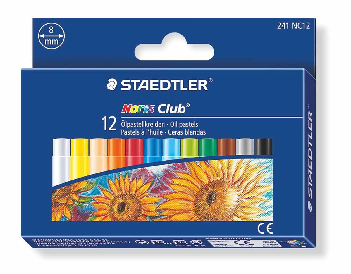 Staedtler Набор масляной пастели Noris Club 12 цветов241NC12Набор пастели масляной NorisClub, Staedtler. Содержит 12 цветов в ассортименте. Диаметр 8мм. Подходит для рисования, перекрытия цвета и техники процарапывания.