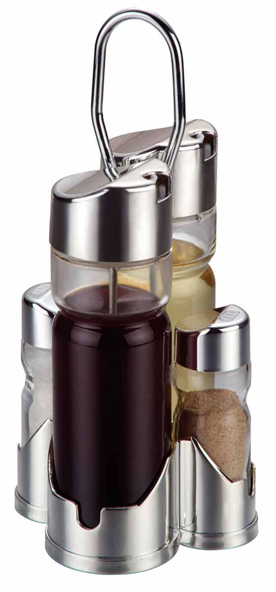 Набор для специй Bohmann, 5 предметов. 7805BH7805BHНабор для специй Bohmann - товар, соответствующий российским стандартам качества. Любой хозяйке будет приятно держать его в руках.В набор входят 2 емкости для соусов, 2 емкости для соли и перца, 1 стальная подставка. Изготовлен из нержавеющей стали.