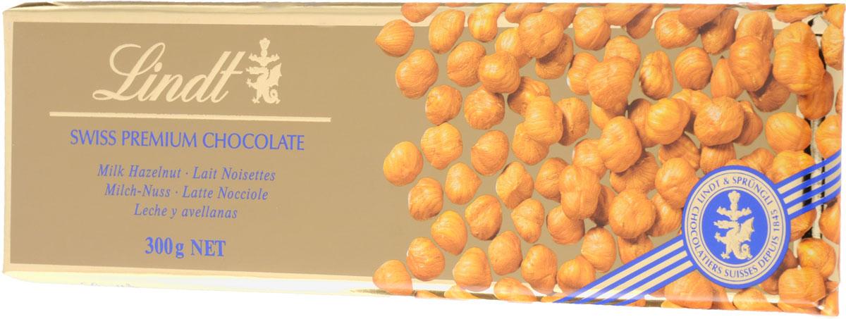 Lindt Gold молочный шоколад с цельным фундуком, 300 г lindor конфеты lindor lindt из молочного шоколада 125г