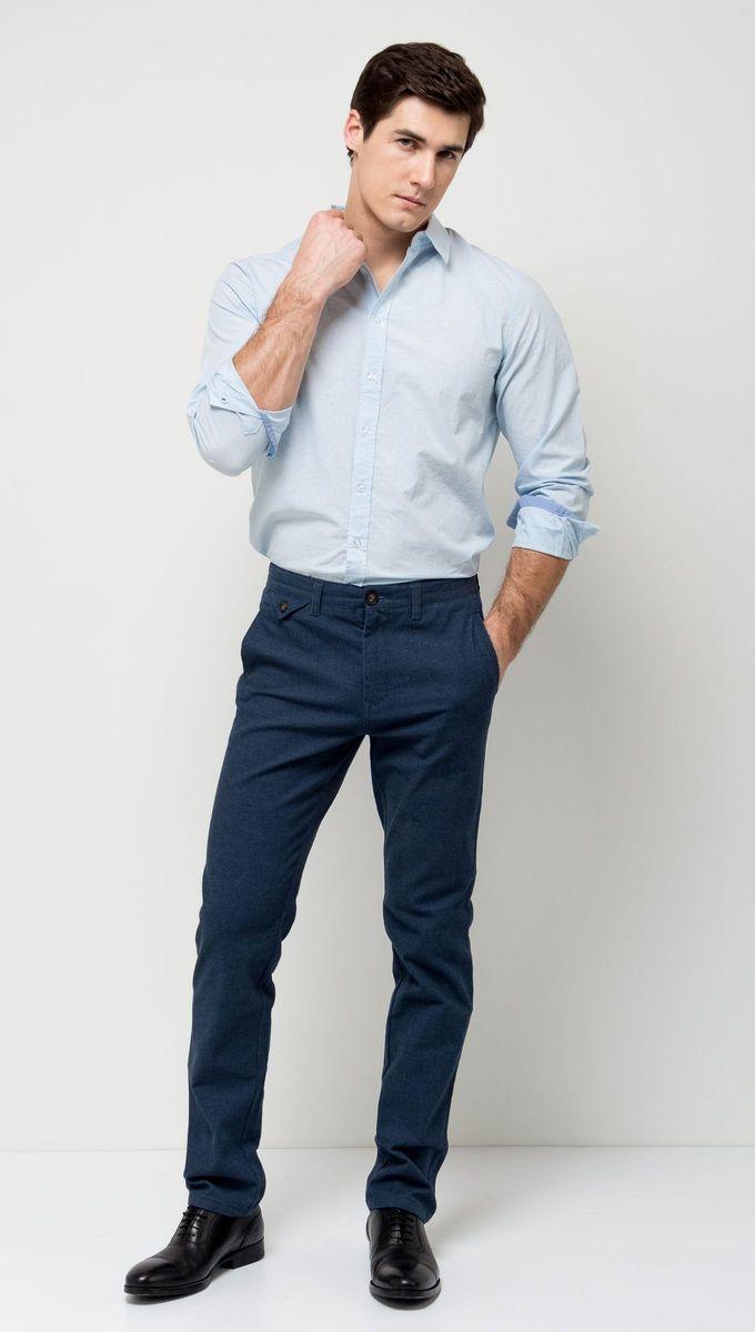 Брюки мужские Sela, цвет: темно-синий. P-215/524-7171. Размер 48