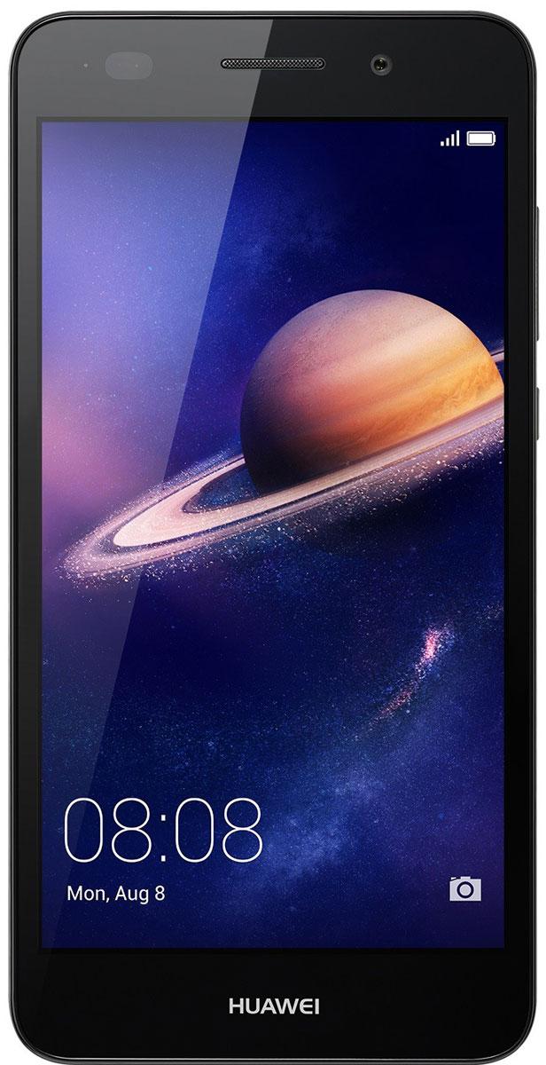 Huawei Y6 II LTE (CAM-L21), Black51090RGBНевероятно яркий экран смартфона Huawei Y6 II с динамическим разрешением 1280x720 позволит вам не упустить ни одной самой мелкой детали, обеспечивая кристально чистые изображения. Покрытие экрана GFF защищает его от царапин и выцветания.Невероятно мощная основная широкоугольная камера 13 МП с линзой 28 мм и диафрагмой F2.0, объектив которой сделан из суперпрочного стекла с защитой от царапин. Камера позволяет делать снимки великолепного качества даже в условиях очень плохого освещения.Селфи никогда не были столь похожи на профессиональные фото! Фронтальная камера 8 МП с диафрагмой F2.0 и углом обзора 77 градусов позволяет делать великолепные панорамные селфи. Открой для себя новый мир!Huawei Y6 II поддерживает 10 степеней режима Украшения, который оптимизирует портретные снимки в режиме реального времени, распознавая лица на фотографиях за 10 миллисекунд. 8 параметров режима украшения и возможность персональной настройки помогут всегда выглядеть на фото великолепно, а режим Макияж позволит нанести макияж, например, тени или румяна, на уже готовом фото. Вы прекрасны!Корпус Huawei Y6 II привлечёт внимание каждого. Приятная текстура и оригинальные цвета корпуса - это сочетание эргономичности и стиля. Почувствуй себя звездой, к которой прикованы взгляды!Оптимальный размер экрана Huawei Y6 II - 5,5 дюймов - и закруглённые края корпуса обеспечивают удобство использования и управления смартфоном одной рукой, сочетая преимущества большого экрана и компактного корпуса.Huawei Y6 II оснащён 8-ядерным 64-битным процессором Kirin 620 1,2 ГГц, который позволяет одновременно использовать несколько приложений без задержек и снижения производительности. Архитектура ARM поддерживает технологию умного энергопотребления, продлевая время работы телефона без подзарядки. 2 ГБ RAM, 16 ГБ ROM и поддержка карты памяти microSD (до128 ГБ) обеспечивают высочайшую скорость работы смартфона.ОС Android 6.0 и интерфейс EMUI4.1 - новое ПО, обеспечивающее неве