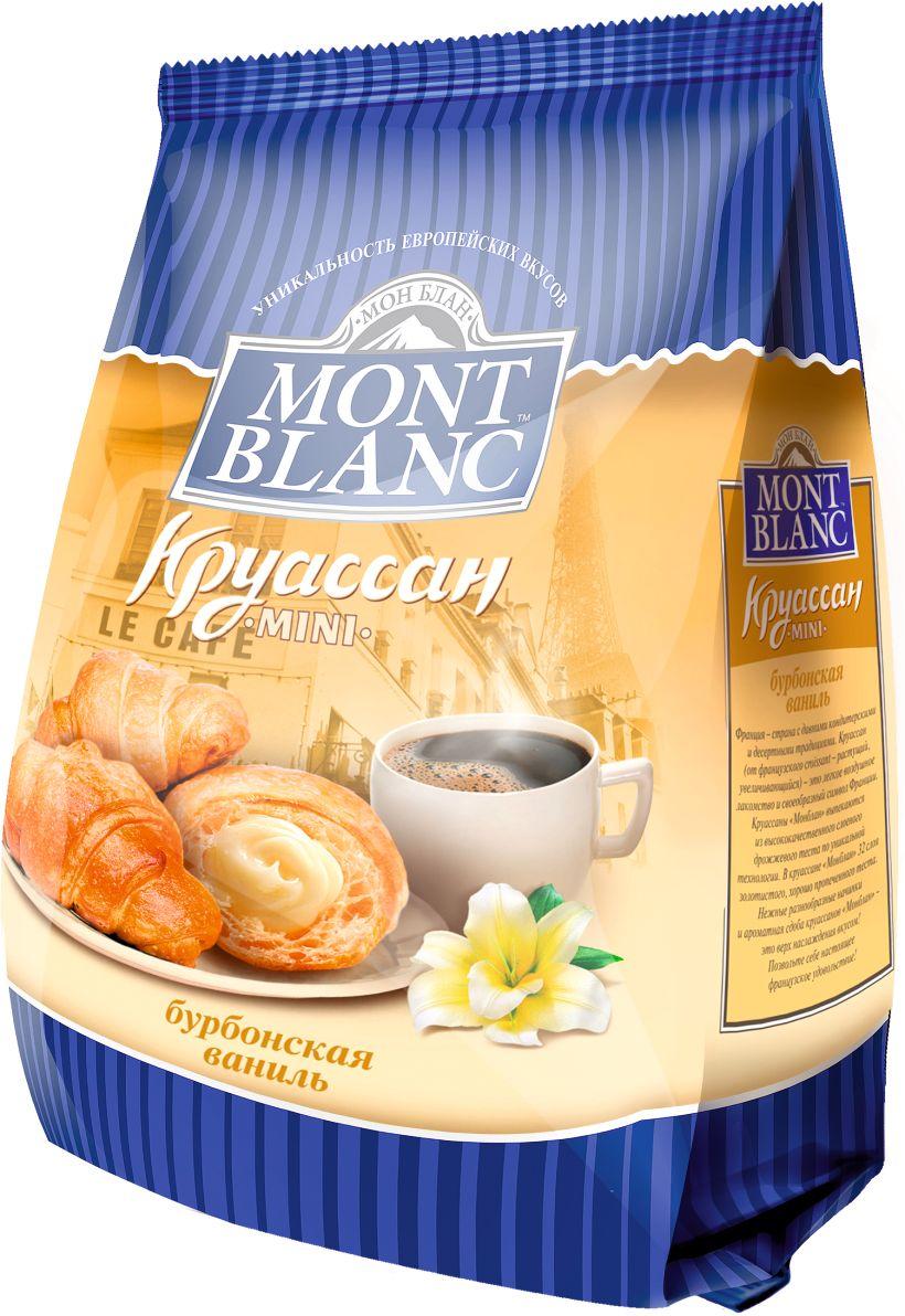 Mont Blanc круассаны мини Бурбонская ваниль, 200 г mont blanc круассаны мини анжуйская клубника 200 г