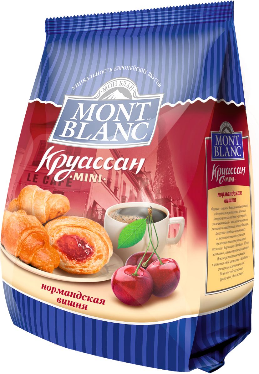 Mont Blanc круассаны мини Нормандская вишня, 200 г обложка для паспорта printio ирисы