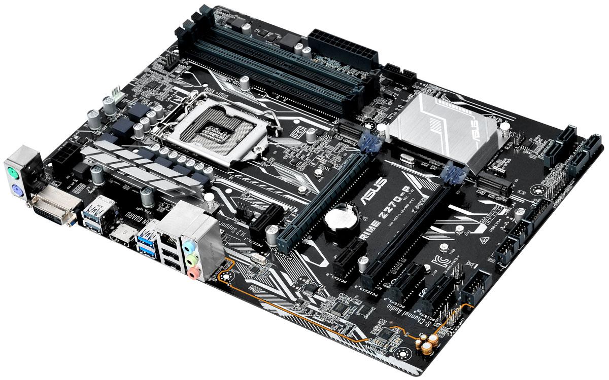 ASUS Prime Z270-P материнская плата90MB0SY0-M0EAY0Asus Prime Z270-P - новейшая ATX-плата для платформы Intel LGA 1151 со светодиодной подсветкой, поддержкой DDR4 3866 МГц и накопителей Intel Optane, двумя разъемами M.2, портами HDMI, SATA 6 Гбит/с и USB 3.0.Asus Prime – это следующая эволюция материнских плат ASUS, славная история которых началась еще в далеком 1989 году. Наша команда инженеров мирового класса постоянно работает над тем, чтобы донести преимущества действительно персонифицированнй и гибкой настройки компьютерной системы каждому пользователю. Движущей силой создания материнских плат серии Prime стало наше искреннее желание сделать легко доступными расширенные возможности по управлению системой для достижения еще лучшей производительности, стабильности и совместимости. Пришло время Prime.Asus является мировым лидером в производстве материнских плат, известным своими творческими подходами к решению инженерных задач. Системные платы Asus создаются на базе высококачественных компонентов и проходят исчерпывающие тестирования, превосходящие по объемам отраслевые стандарты. Готовые платы проверяются на совместимость с более чем 1000 компонентами и устройствами, а также подвергаются комплексным испытаниям в течение не менее 8000 часов.В материнских платах Asus серии Prime 200 реализован комплекс технологий 5X Protection III, который гарантирует использование лучших компонентов и схемных решений, а также соответствие современным стандартам для обеспечения непревзойденной надежности и длительного срока службы системы.SafeSlot Core – это разработанная Asus конструкция слотов PCIe, которая отмечается улучшенной прочностью и обеспечивает усиленный зажим видеокарты.Использование современных технологий и конденсаторов премиум-класса позволило увеличить пропускную способность сетевого интерфейса. В то же время, для защиты цепей LAN от перенапряжения, вызываемого статическим электричеством, применяются защитные цепи.В системе питания данной материнской платы использую